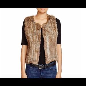 525 America rabbit fur cropped vest